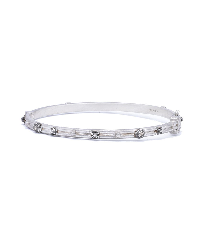 Silver Huggie Bangle - Lesley Ann Jewels