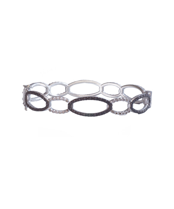 Open circle hinged bangle