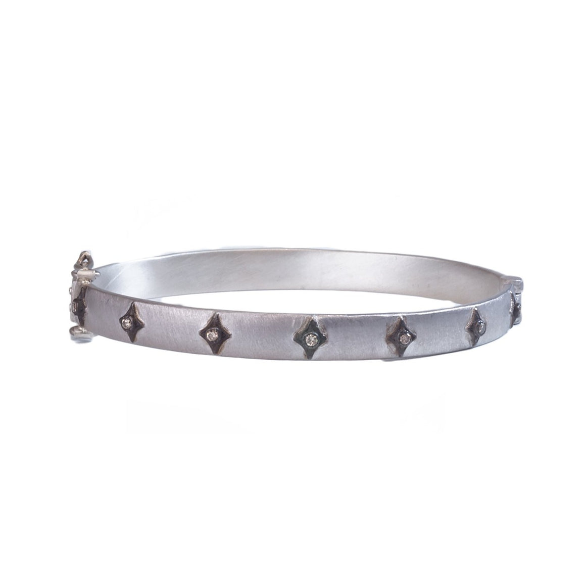 Wide hinged bangle - Lesley Ann Jewels