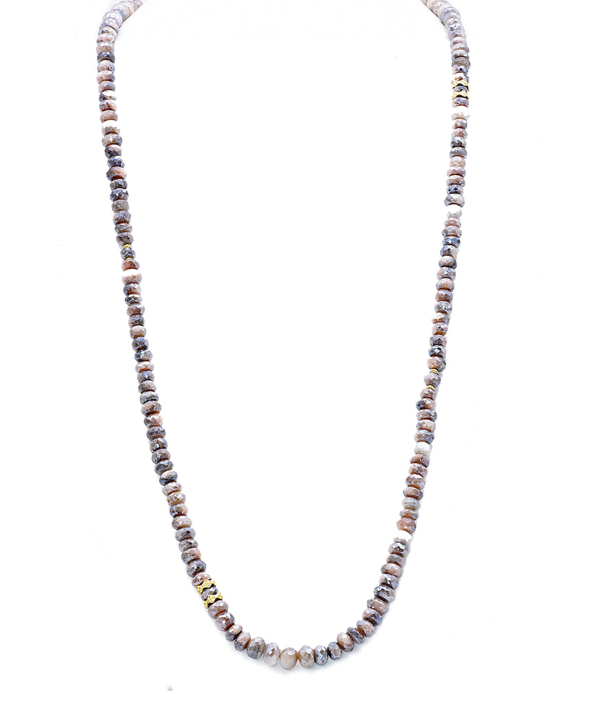 Mystic Moonstone Bead Necklace - Lesley Ann Jewels