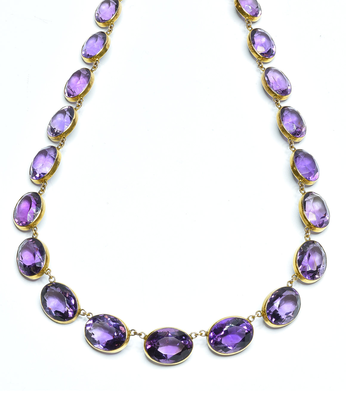Amethyst collet necklace