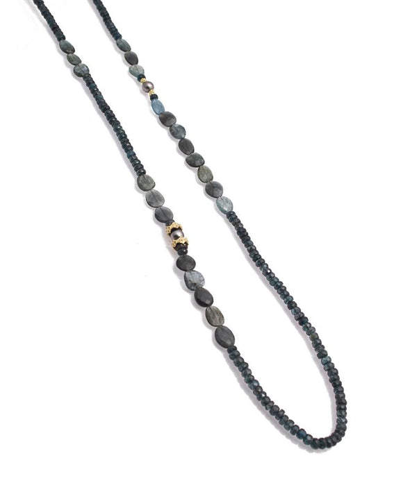 Kyanite and Aquamarine Necklace - Lesley Ann Jewels