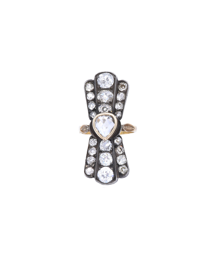 Vintage fan ring - Lesley Ann Jewels
