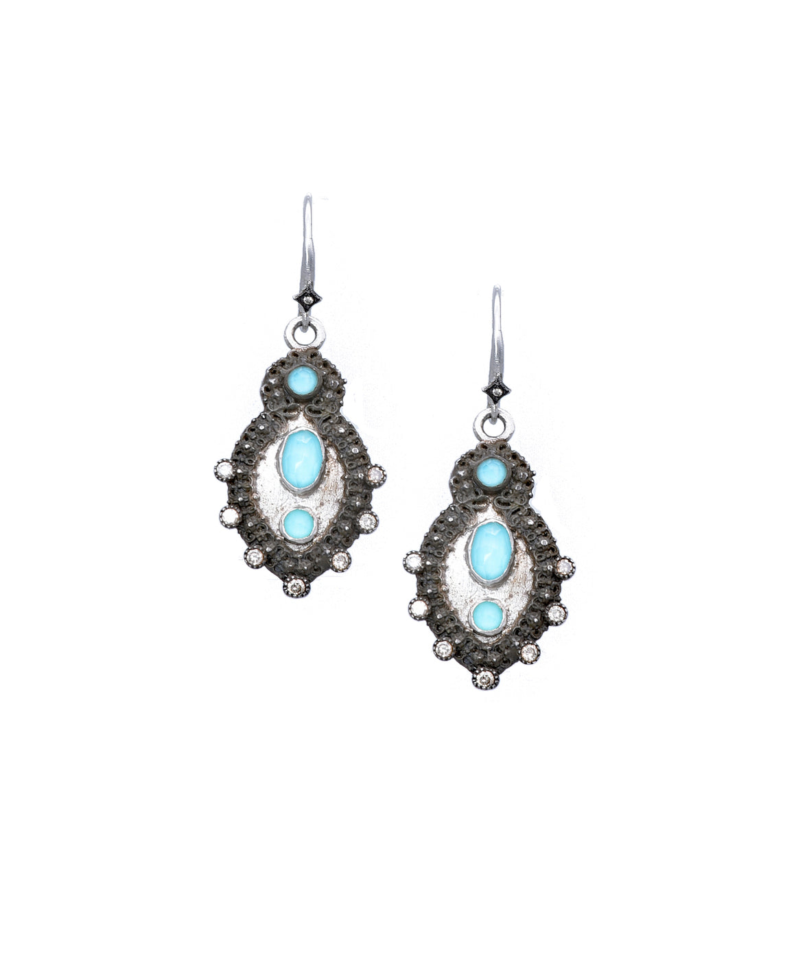 New World earrings with turquoise - Lesley Ann Jewels
