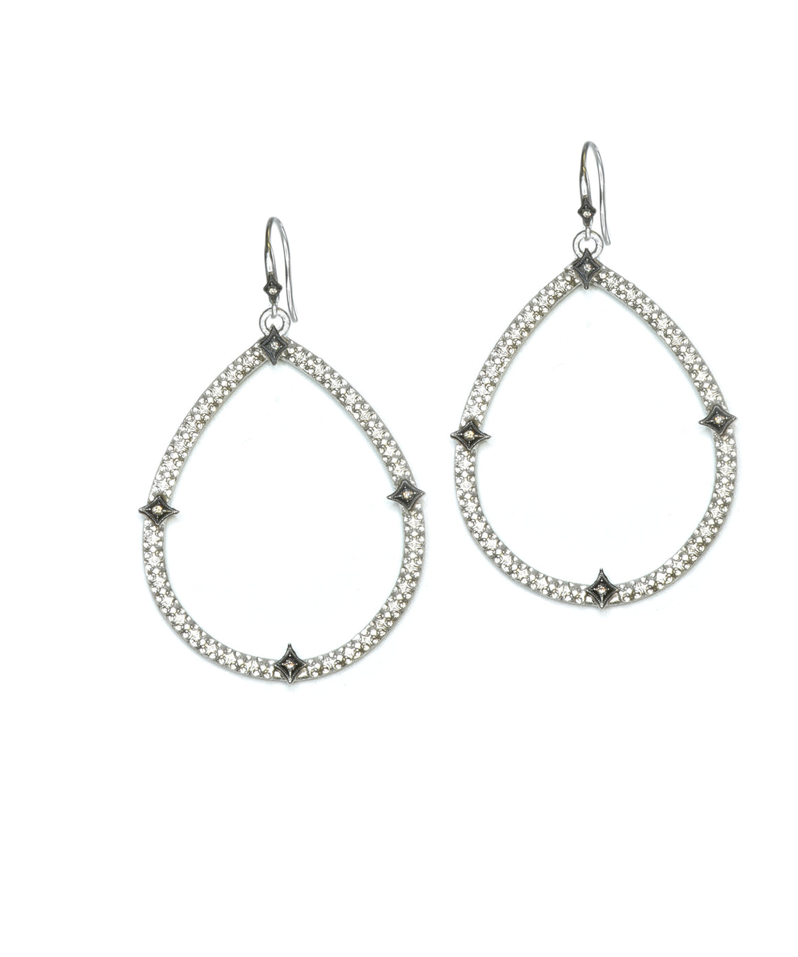 Open pear-shape earrings