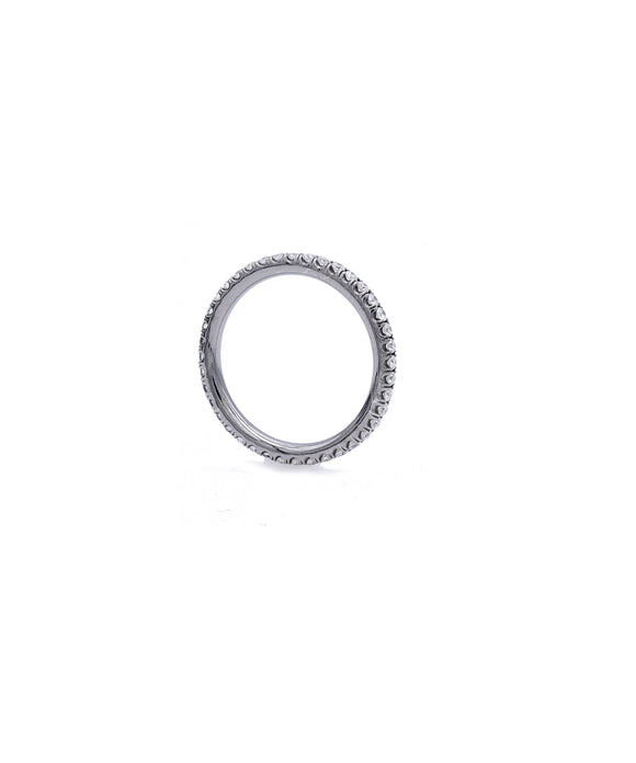 Blackened White Gold Eternity Band - Lesley Ann Jewels