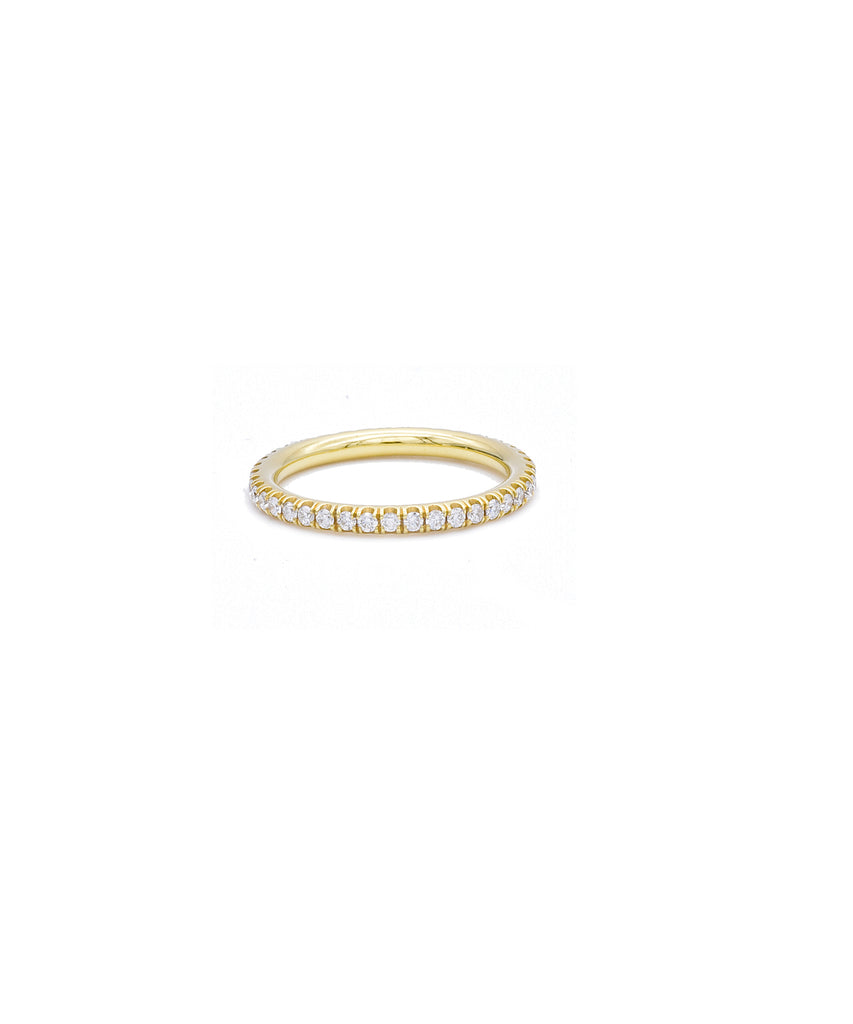 Yellow Gold Micro Pave Eternity Band