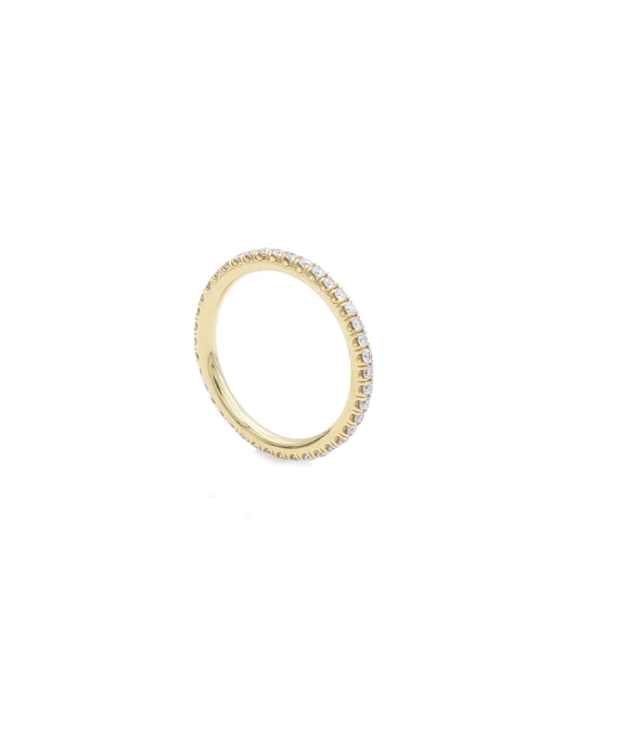 Yellow Gold Micro Pave Eternity Band - Lesley Ann Jewels