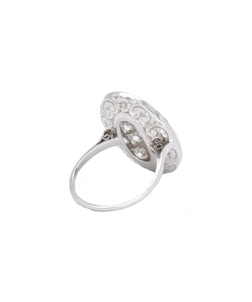 Antique French Diamond Ring - Lesley Ann Jewels