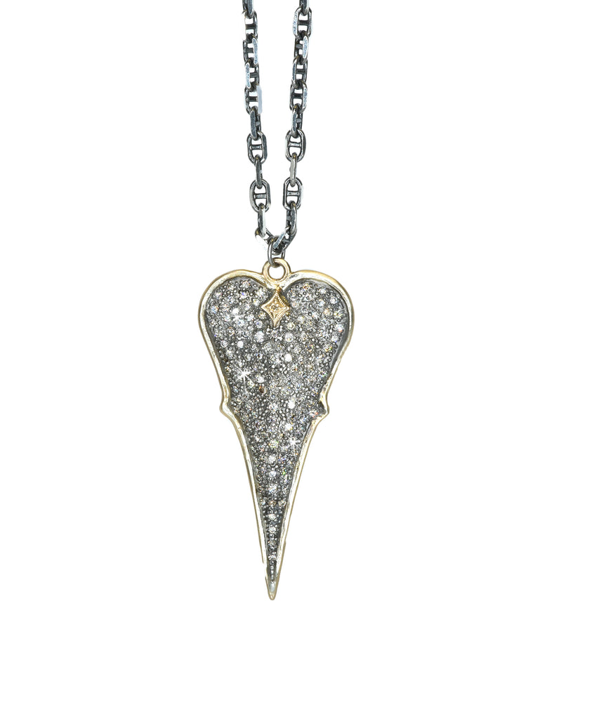 Cuento pave heart necklace - Lesley Ann Jewels