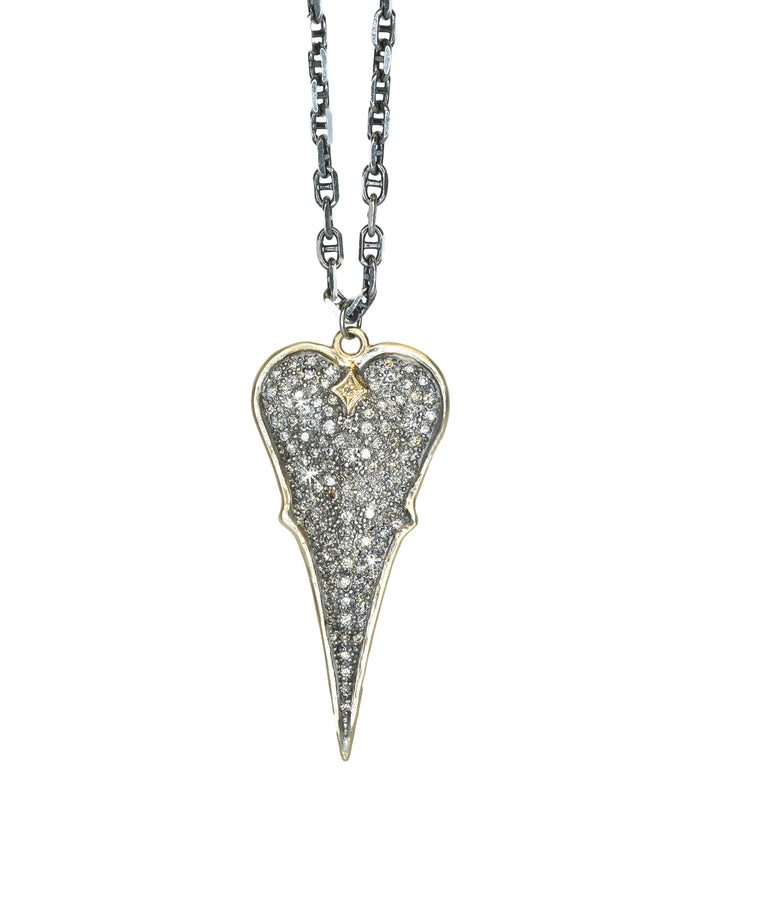 Cuento pave heart necklace