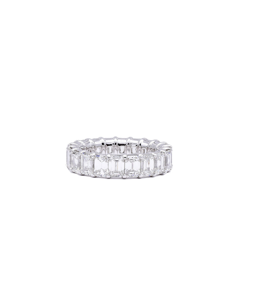 Eternity Band with Emerald Cut Diamonds - Lesley Ann Jewels