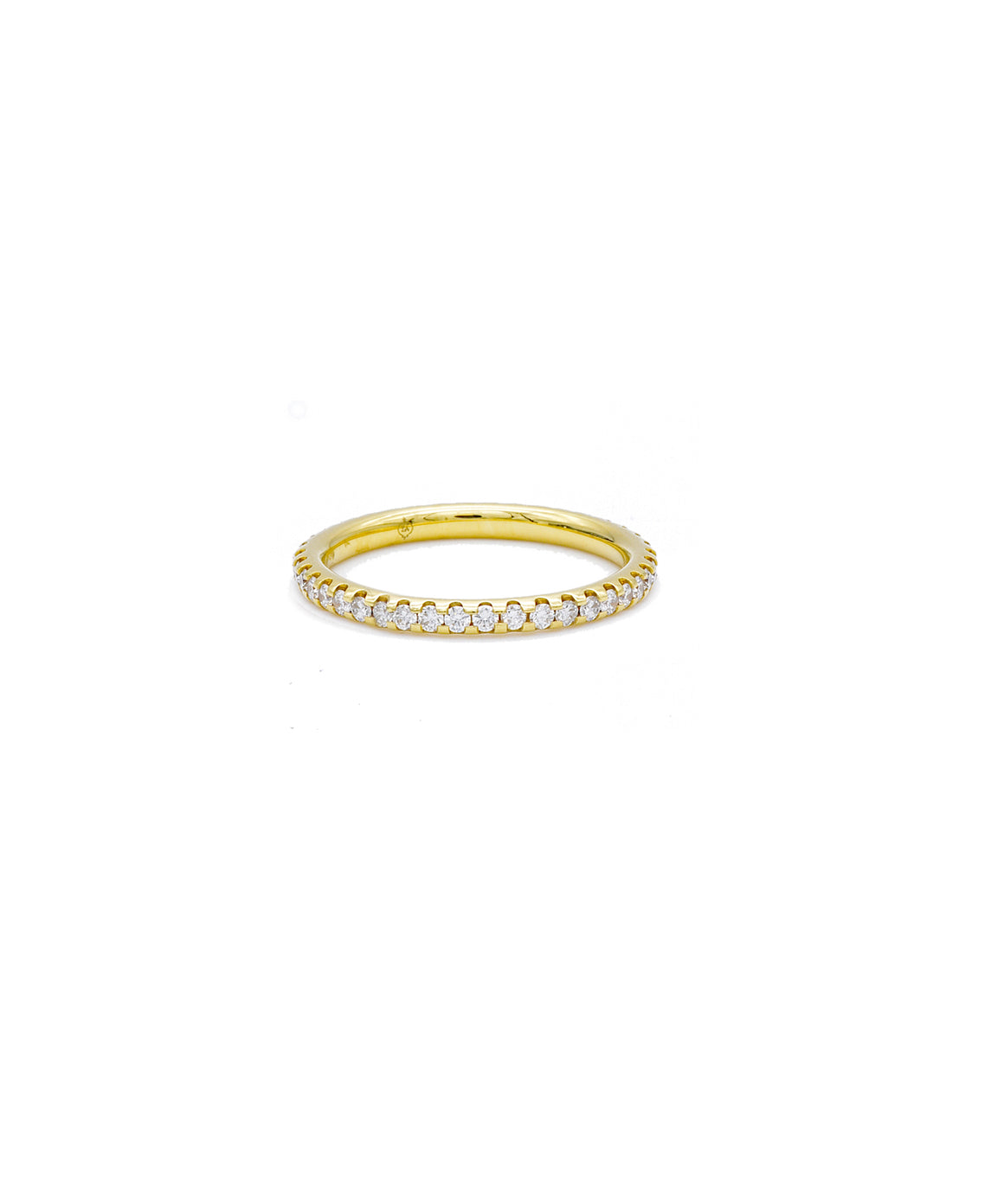 Yellow Gold Eternity Band - Lesley Ann Jewels