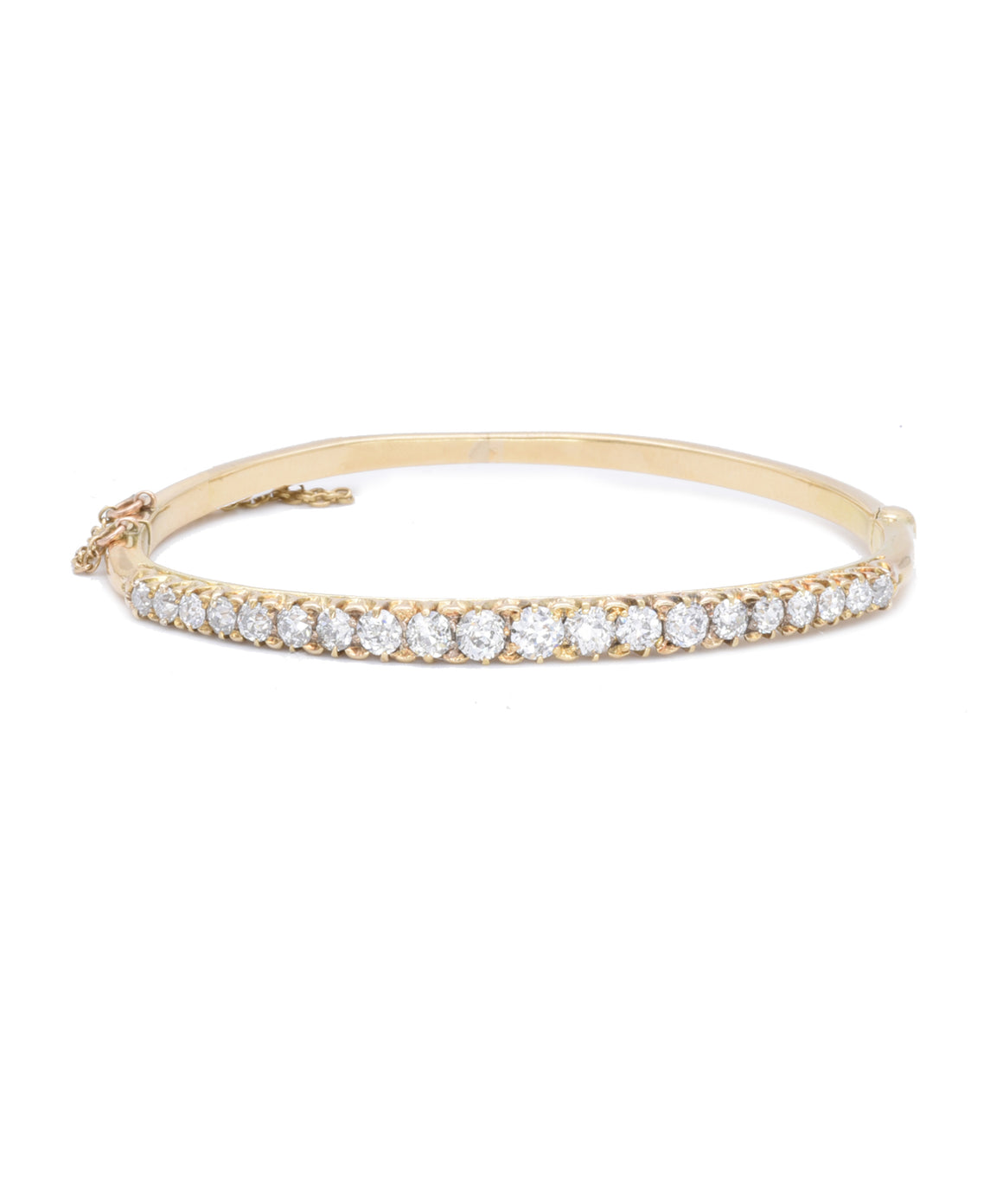 Antique Diamond Bangle Bracelet