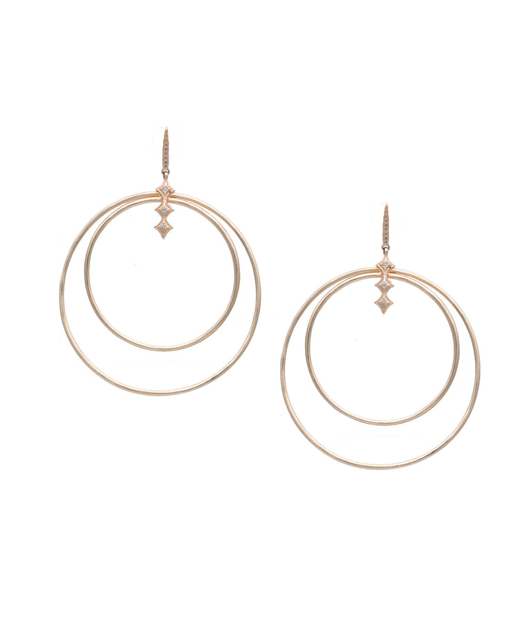 Double-circle gold hoops