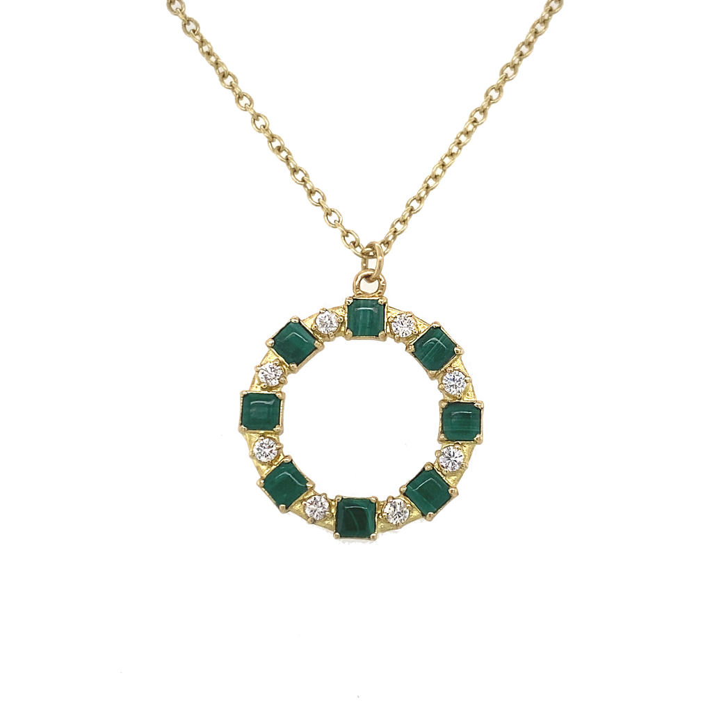 Old World Open Circle Necklace - Lesley Ann Jewels