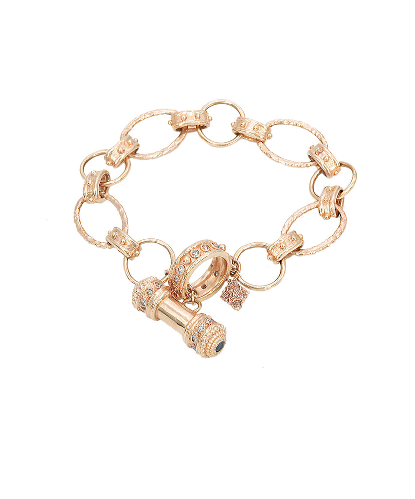 Substantial Rose Gold Link Bracelet