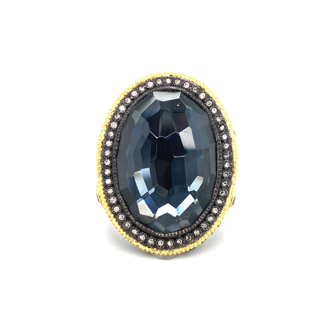 Oval Hematite Ring - Lesley Ann Jewels