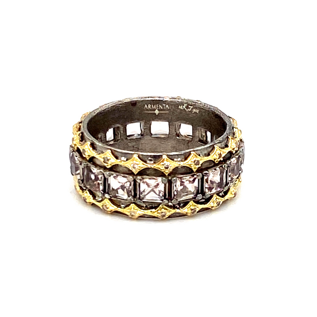 Princess Cut Stack Band - Lesley Ann Jewels