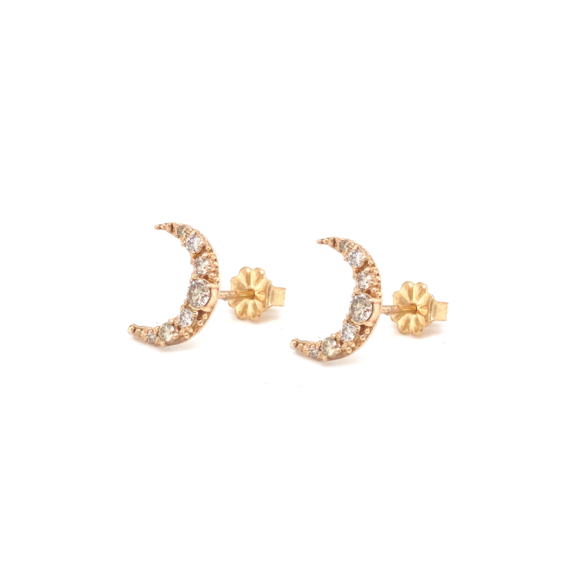 Crescent Moon Studs - Lesley Ann Jewels