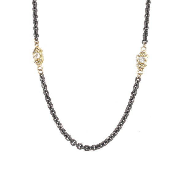 Scroll Stations Necklace - Lesley Ann Jewels