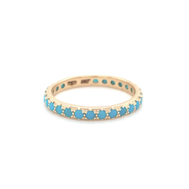 Blue Turquoise Stack Band - Lesley Ann Jewels