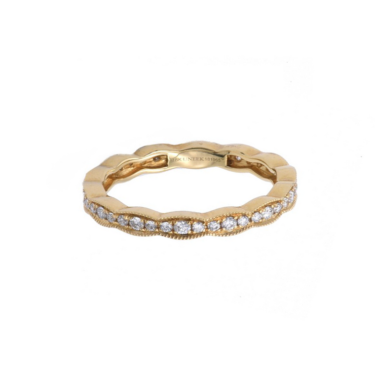 Highland Eternity Band in Yellow Gold - Lesley Ann Jewels