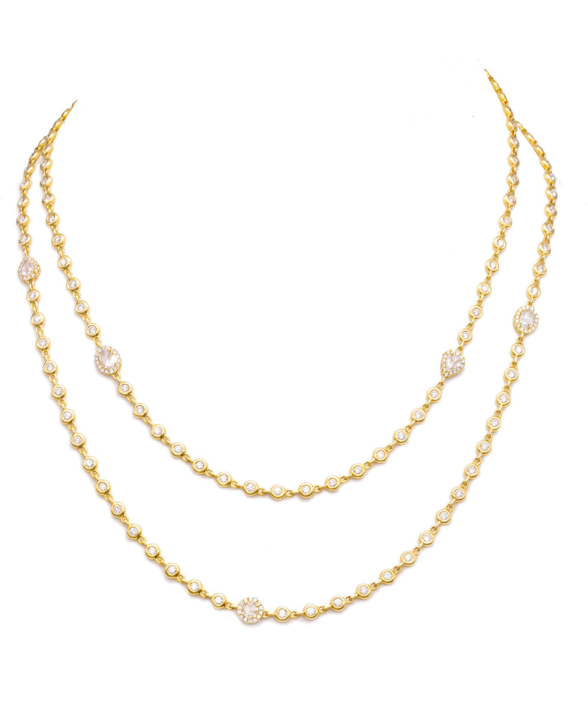Yellow Gold Cascade Necklace - Lesley Ann Jewels
