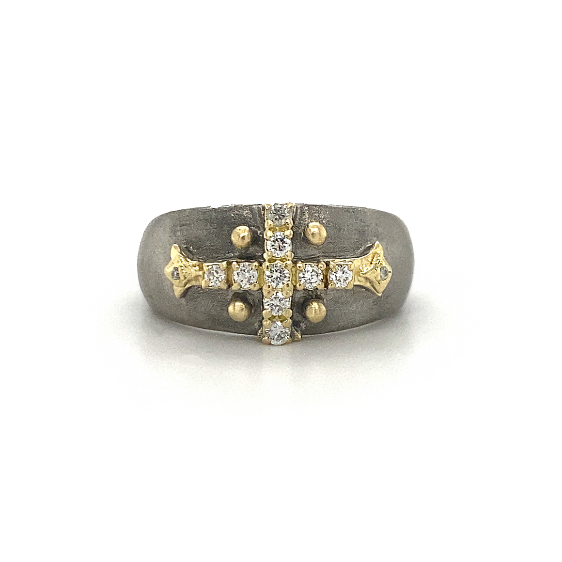 Old World Pointed Cross Ring - Lesley Ann Jewels