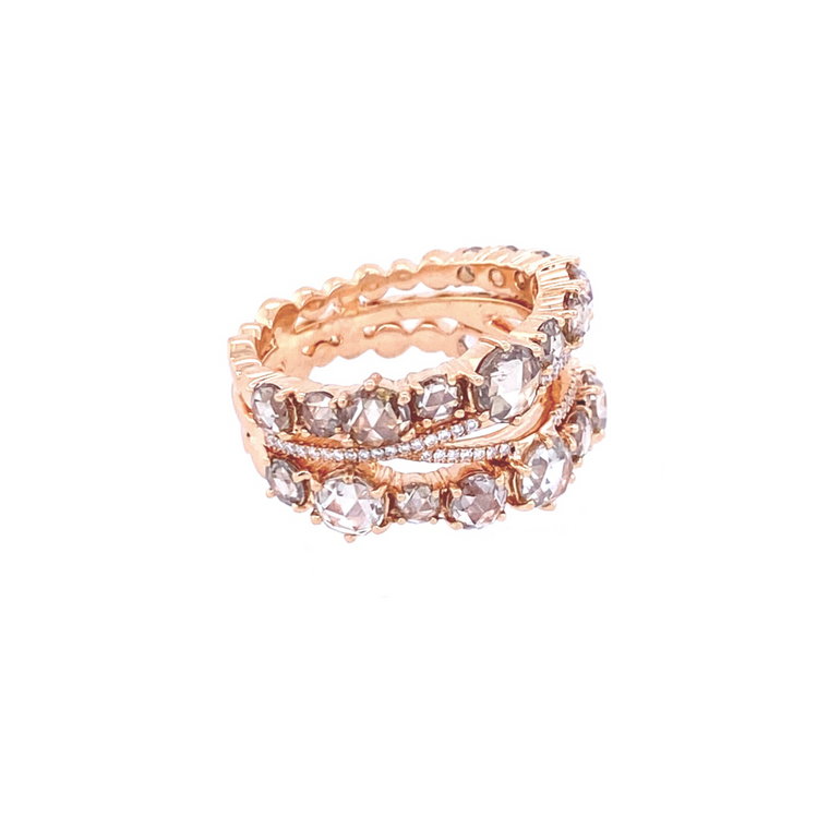 Champagne Open Ring - Lesley Ann Jewels