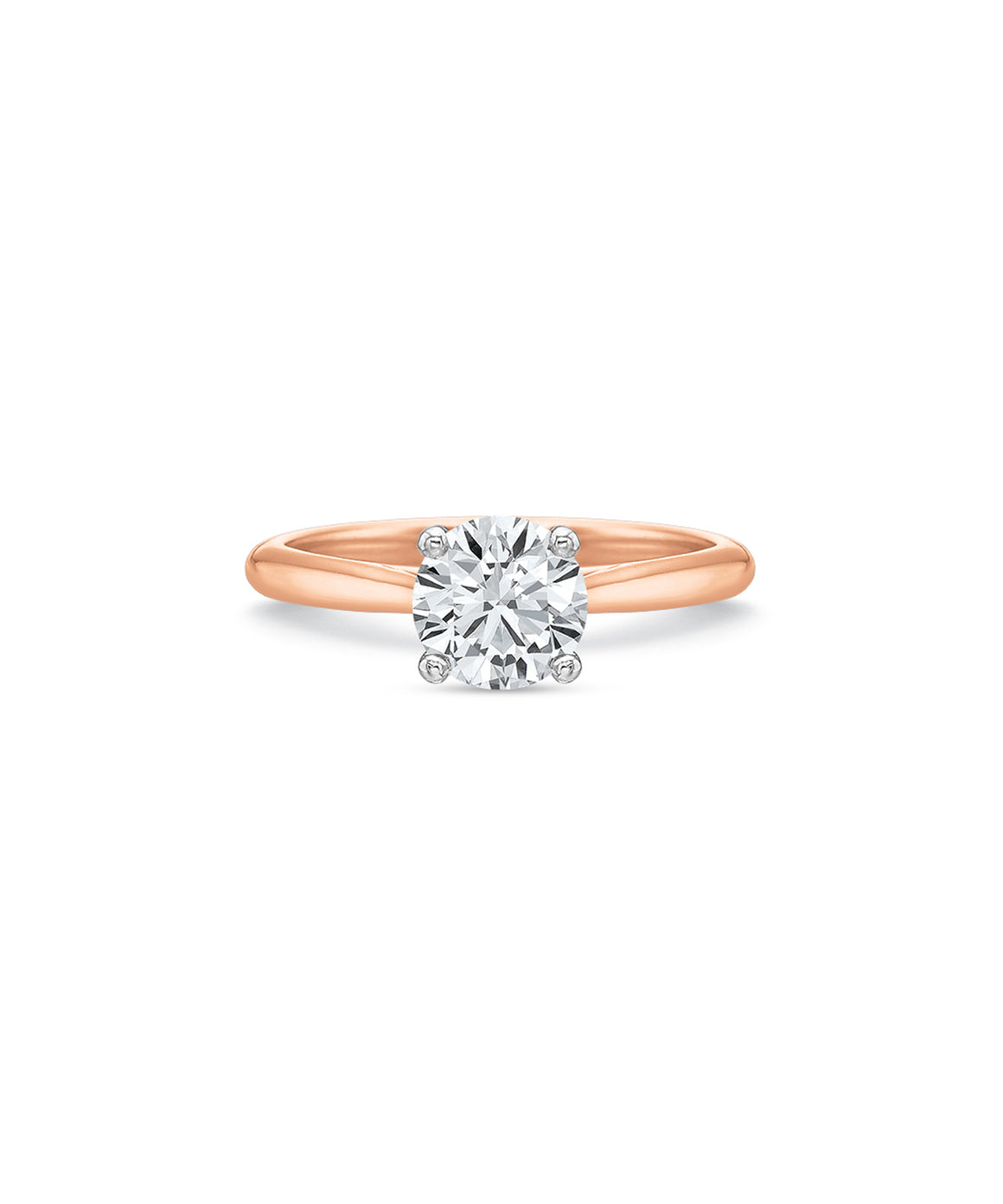 Simple Semimount in Rose Gold - Lesley Ann Jewels