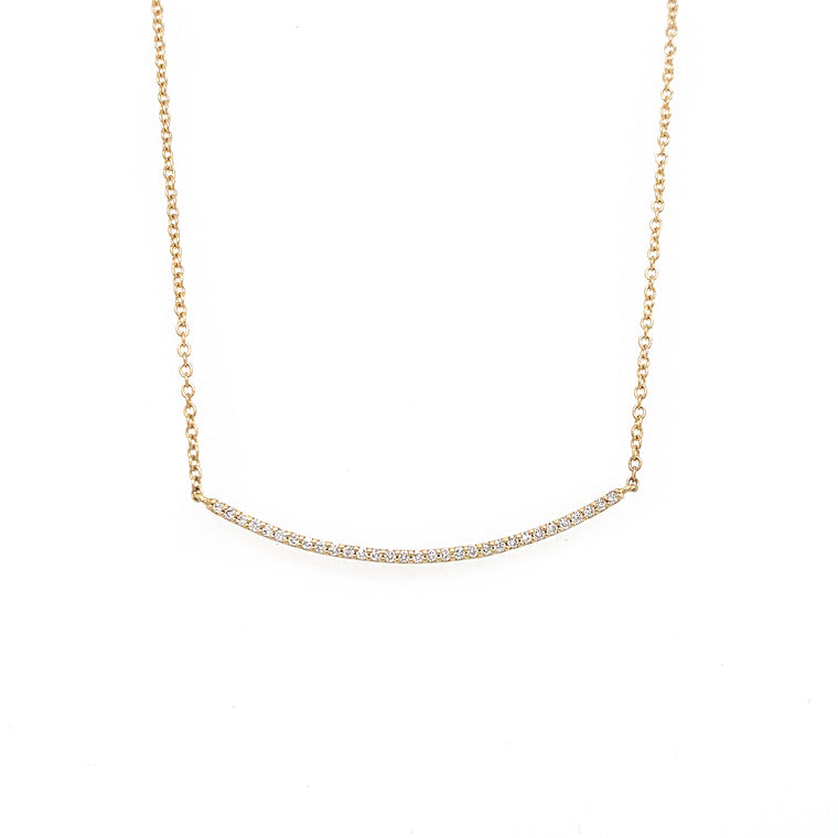 Diamond Bar Necklace - Lesley Ann Jewels