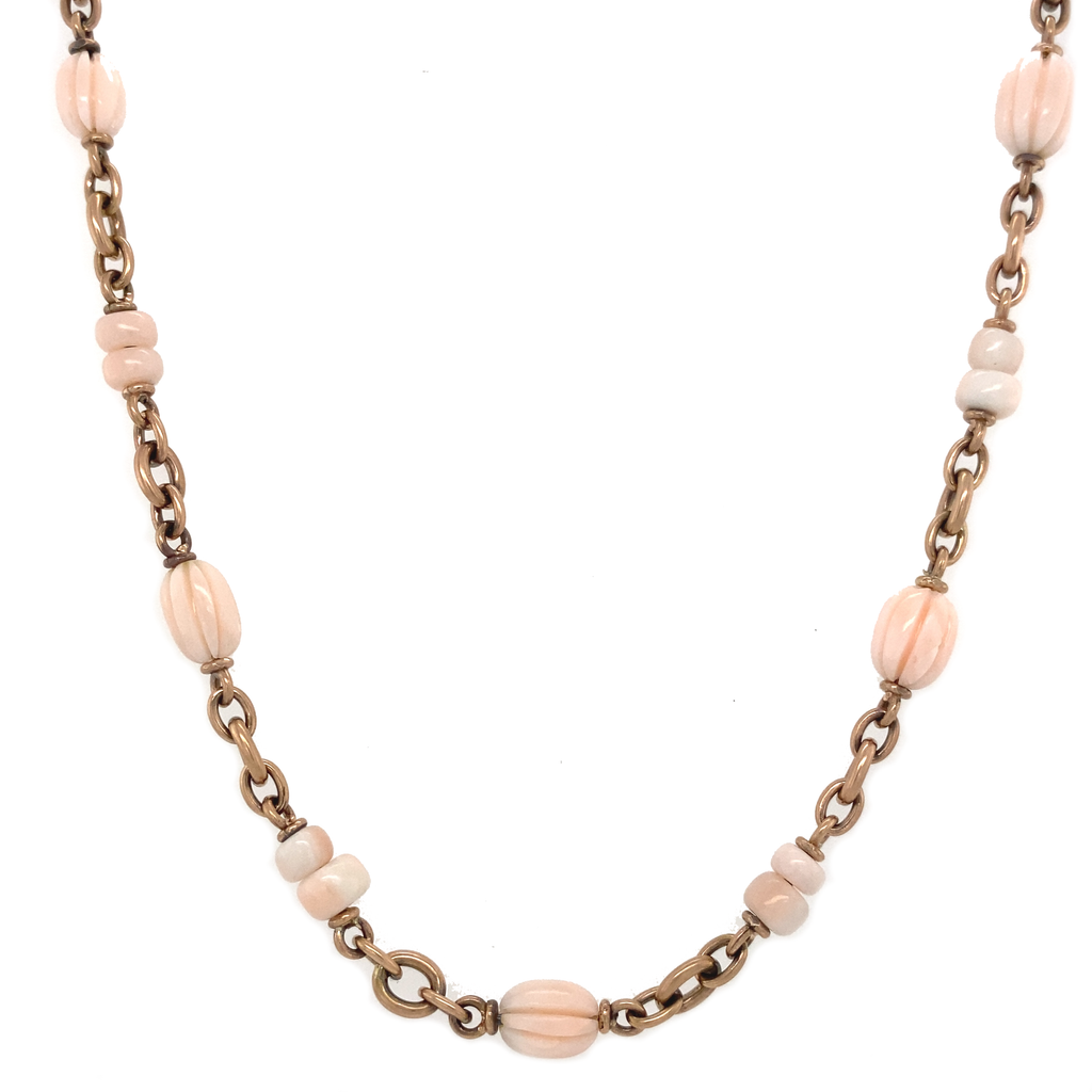 Angel Skin Coral Necklace - Lesley Ann Jewels