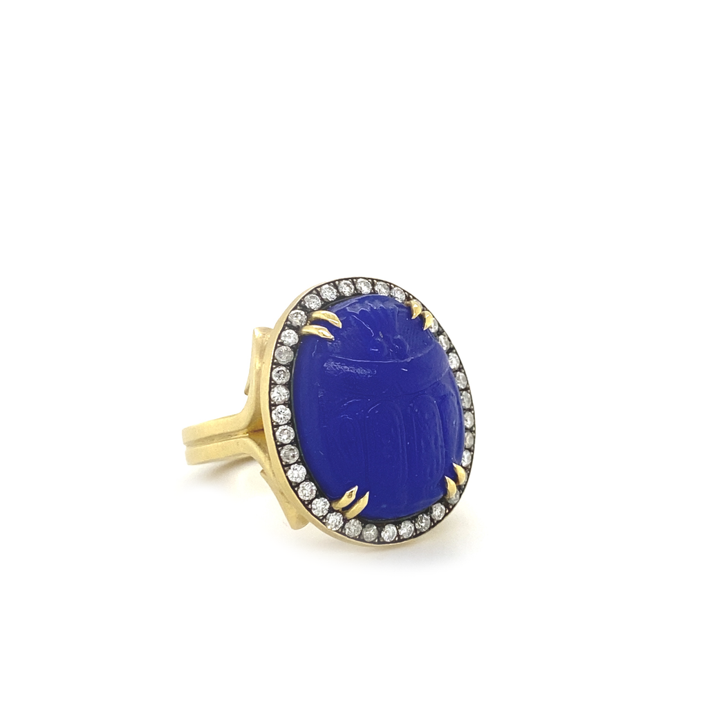 Intaglio Scarab Ring - Lesley Ann Jewels