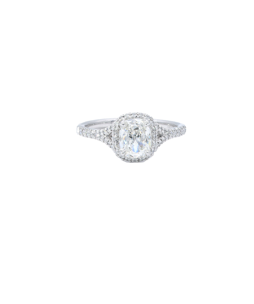 Cushion Cut Diamond Engagement ring - Lesley Ann Jewels