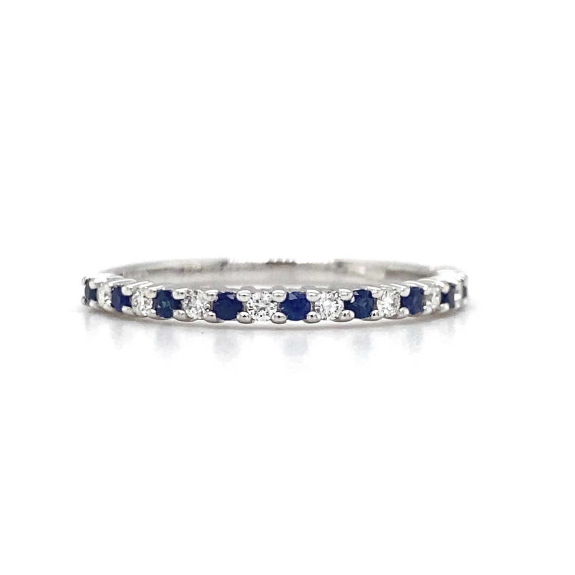 Blue Sapphire Thin Stack Band