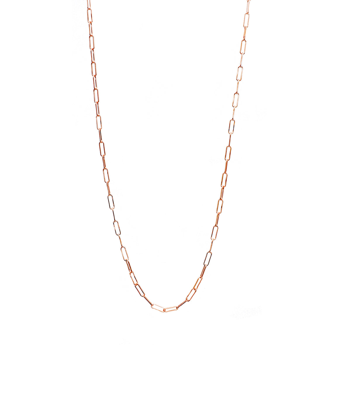 Small Rose Gold Paper Clip Chain