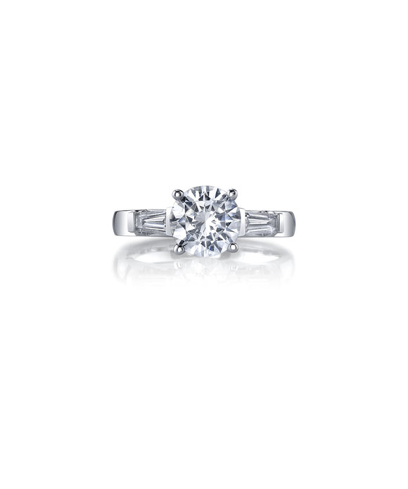 Semi-mount for 1.50 carat round diamond - Lesley Ann Jewels