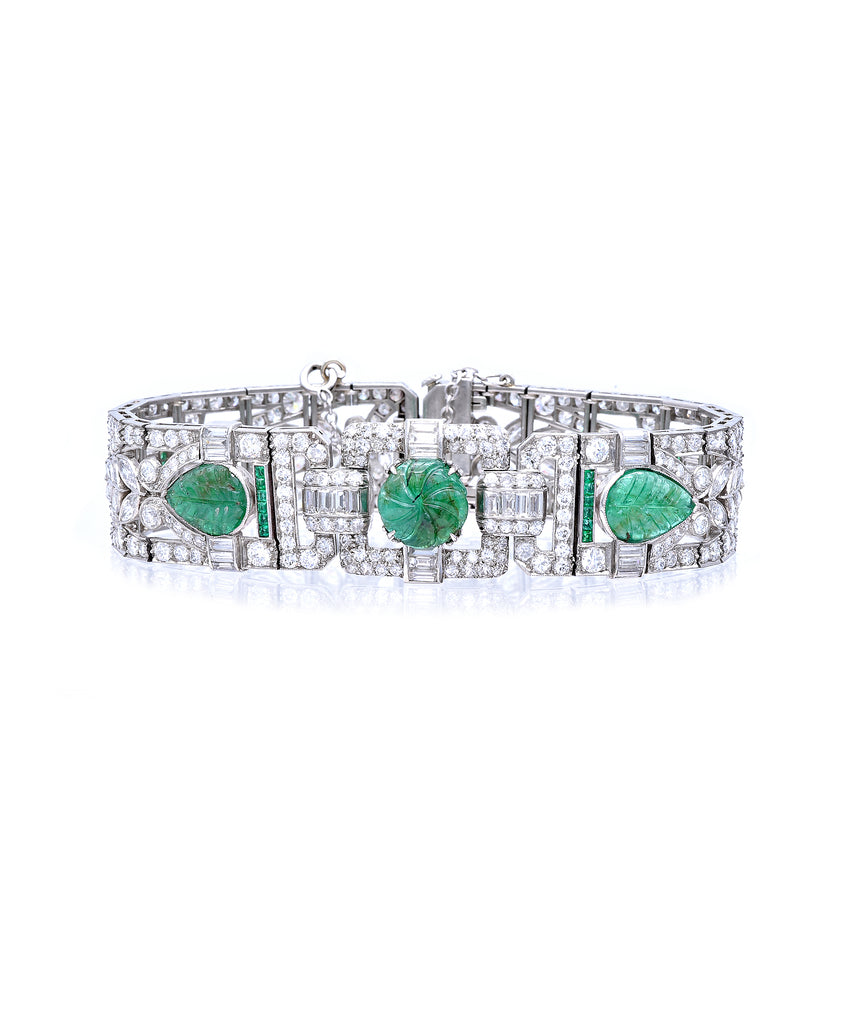 Art Deco bracelet with emeralds