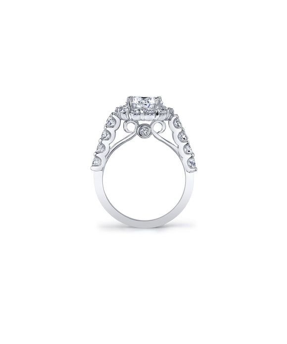 Halo semi-mount for 2.00 carat round diamond