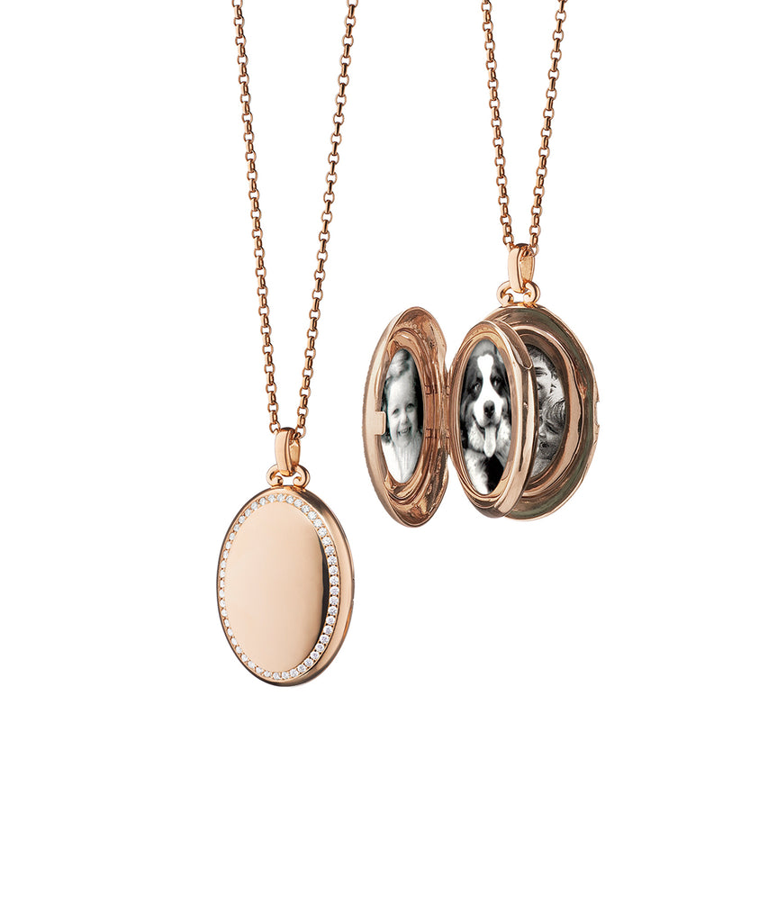 Rose Gold Oval Locket - Lesley Ann Jewels
