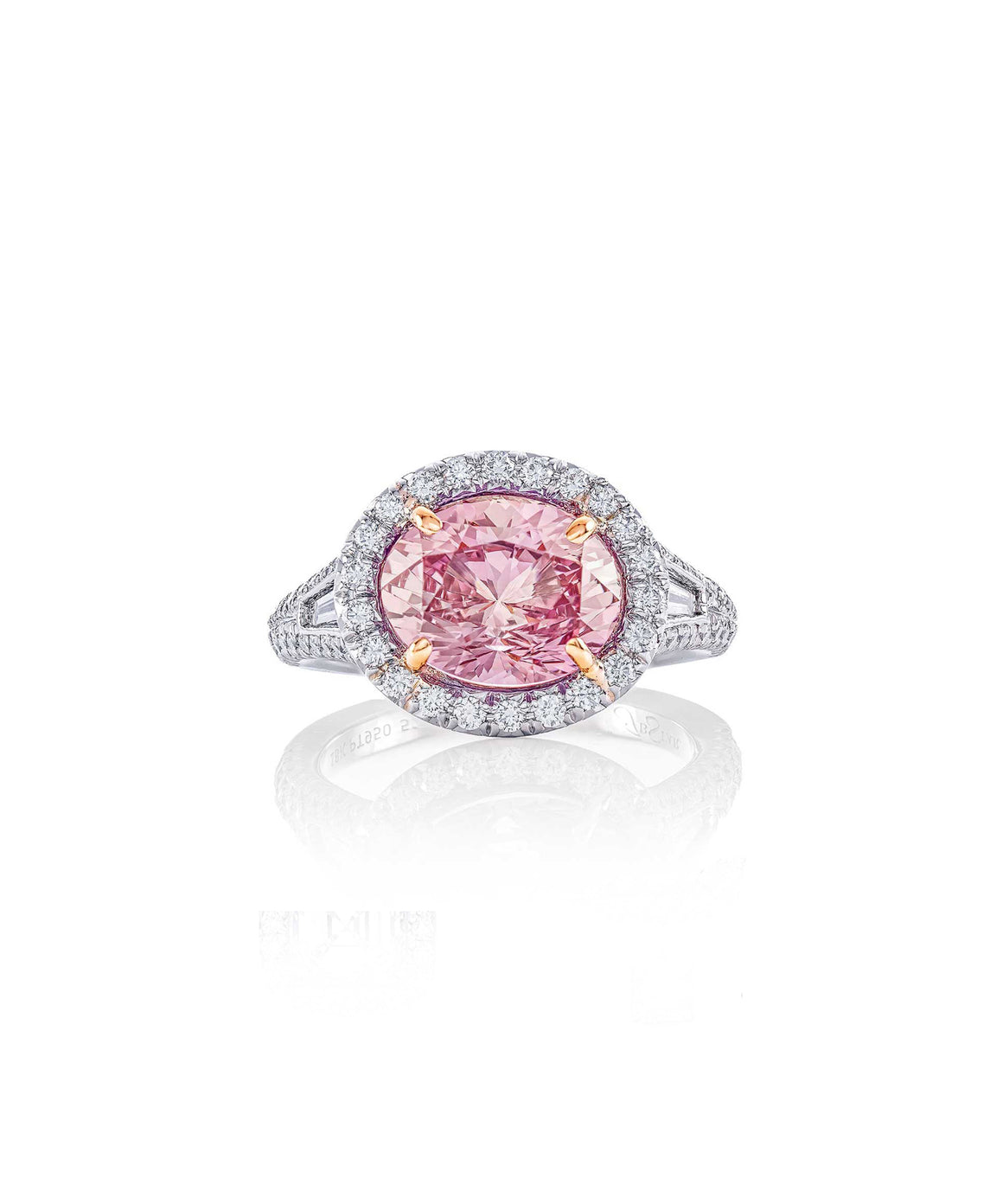 Extraordinary padparadscha sapphire ring.