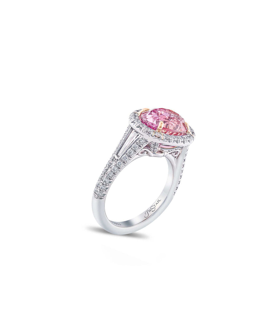 Extraordinary padparadscha sapphire ring. - Lesley Ann Jewels