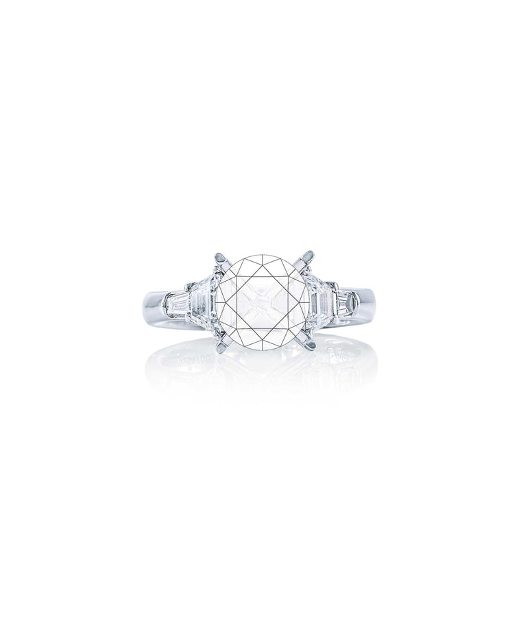 Semi-mount with trapezoid diamonds