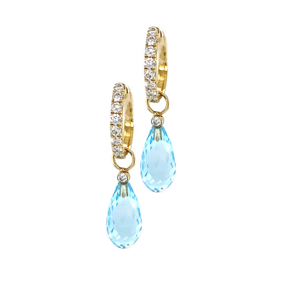 Blue Topaz Earring Charms