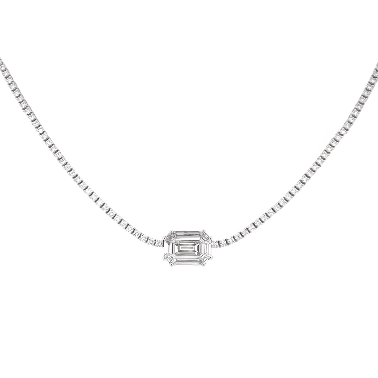 Center Diamond Necklace - Lesley Ann Jewels