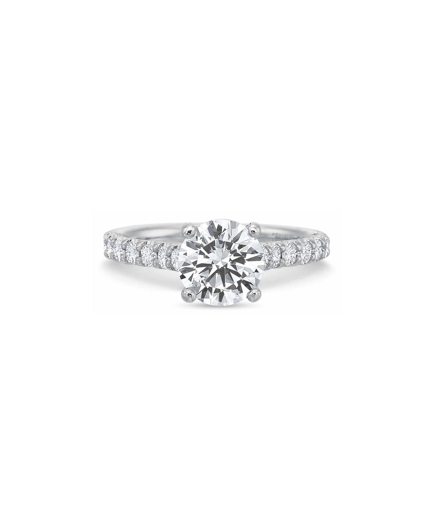 Round Diamond Solitaire Semimount - Lesley Ann Jewels