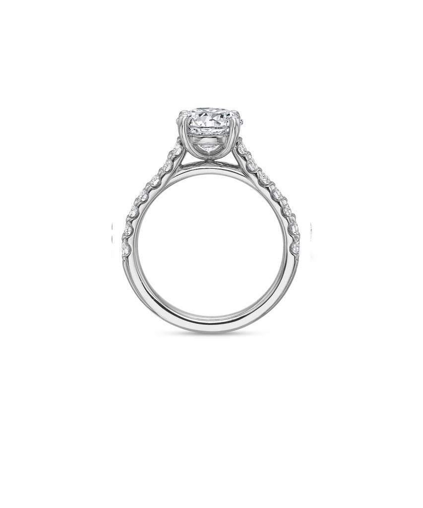 Semi-mount for 2.00 carat round - Lesley Ann Jewels