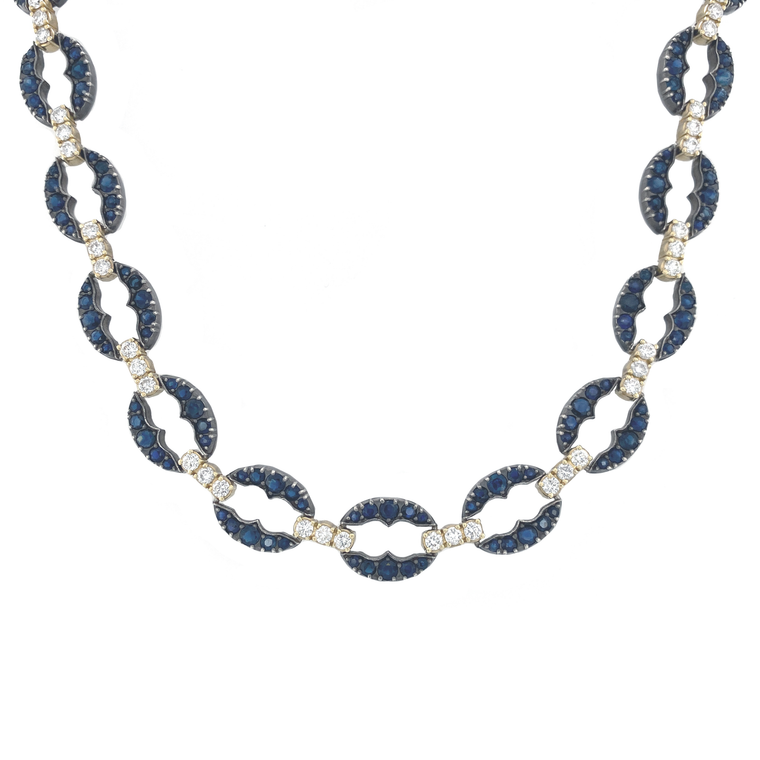 Sapphire Diamond Necklace - Lesley Ann Jewels
