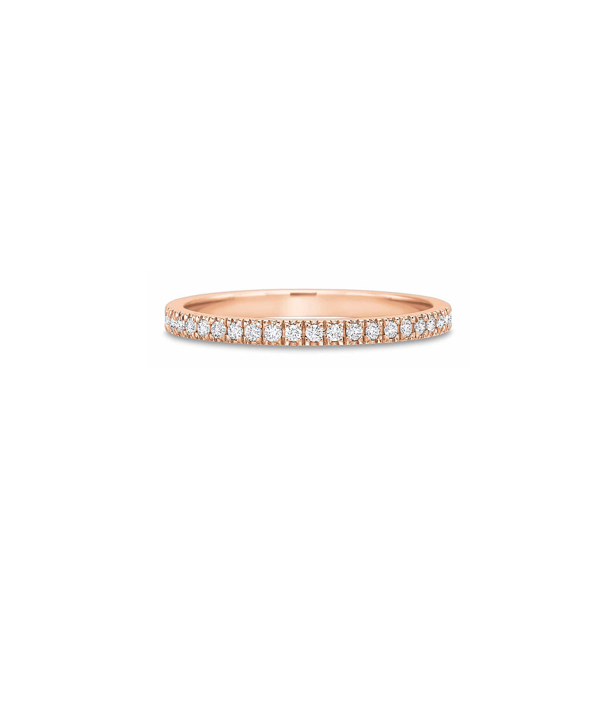 Small Rose Gold Diamond Eternity Band - Lesley Ann Jewels